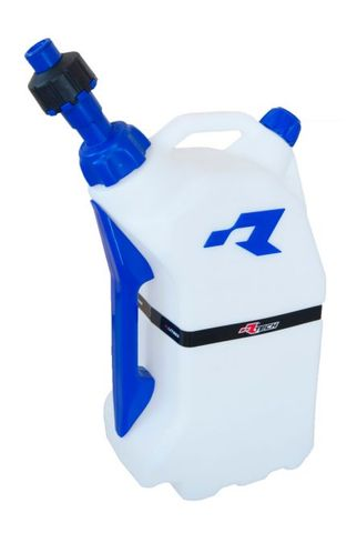 FUEL CAN RTECH 15 LITRE QUICK REFUELING FITS INTO R15 STAND FOR EASY TRANSPORTATION  BLUE