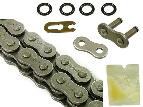 CHAIN 520 - 120 LINK KMC  SEALED LUBRICATION KMC SEALED CHAIN WORK OPTIMALLY HEAVY DUTY O RING