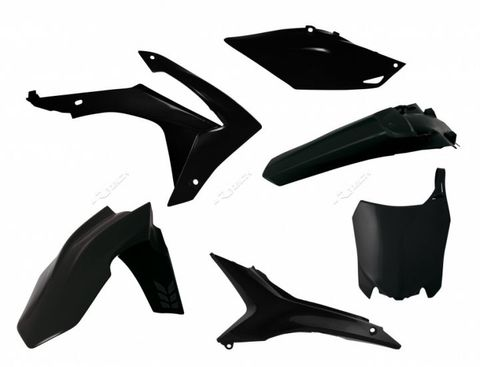 PLASTIC RTECH FRONT/REAR FENDER RADIATORSHROUD SIDEPANEL AIRBOX COVER&FRONTNUMBERPLATE CRF250R 450R