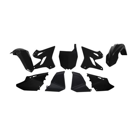 PLASTICS RESTYLED RTECH FRONT/REAR FENDER SIDEPANEL RADIATOR SHROUD AIRBOX COVER & FRONT NUMBERPLATE