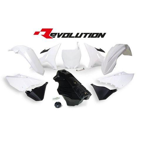 PLASTICS KIT REVOLUTION YAMAHA YZ125 YZ250 YZ250X 02-21WHITE