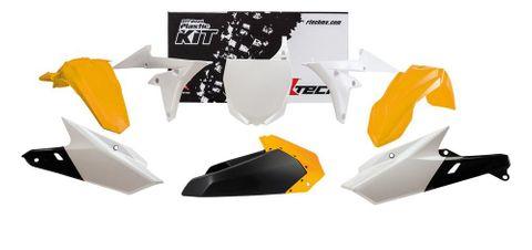 *PLASTIC KIT RTECH 6 PIECE  YZ250F 14-18 YZ450F 14-17  16-18 YELLOW WHITE