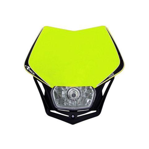 FULL LED HEADLIGHT RTECH V-FACE NEON YELLOW BLACK