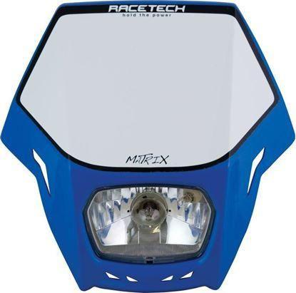 *HEADLIGHT RTECH MATRIX TM E9 CERT PARK LIGHT & HALOGEN BA20D 12V 35W BULB & HOLDERS & FORK STRAPS