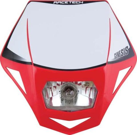 HEADLIGHT GENESIS RTECH CRF RED  E9 CERTIFICATION FOR STREET USE