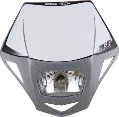 *HEADLIGHT RTECH GENESIS E9 CERT-STREET USE PARK LIGHT&HALOGEN BA20D 12V 35W BULB&HOLDERS&FORK STRA