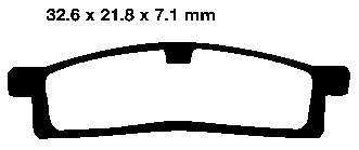 *DISC PADS M-CAX SINTERED FA119 VD244 FRONT YAMAHA YZ65 18-21 YZ80 96-01 YZ85 02-21 TTR125 00-19