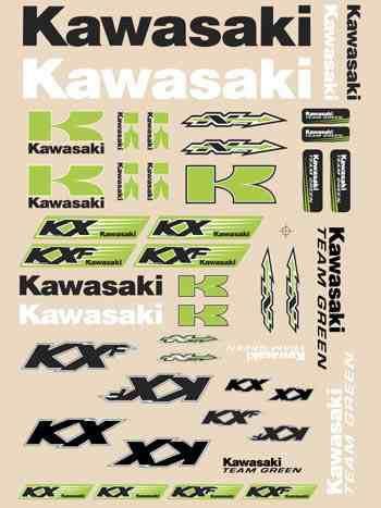 GRAPHICS SHEET N-STYLE KAWASAKI KX85 KX125 KX250 KX250F KX450F 88-21 UNIVERSAL