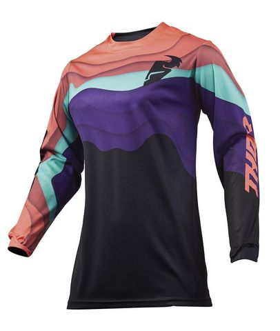 JERSEY S19W WOMENS PULSE DEPTHS BLACK/CORAL XLARGE