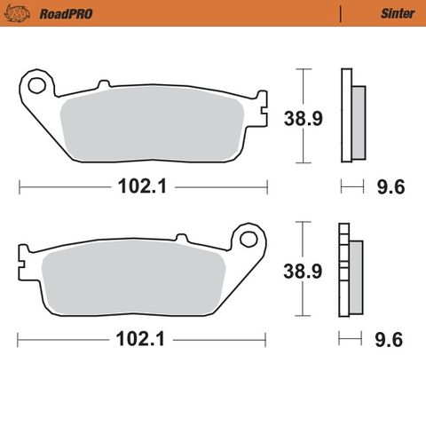 BRAKE PADS FRONT MOTO MASTER PRO SINTERED HONDA CBF1000F 06-14 CBR250RR 2017 250 Magna 97-98