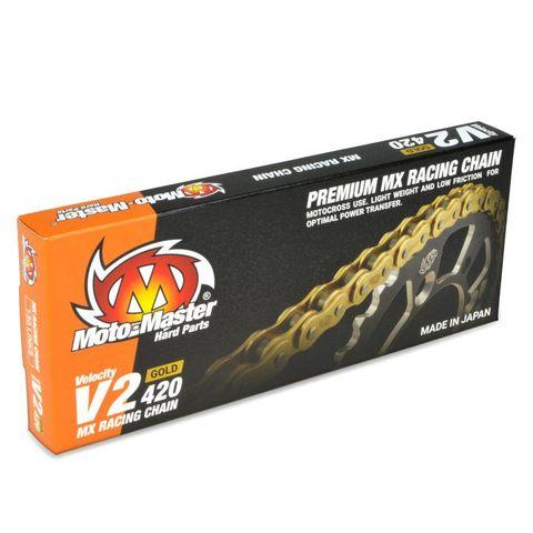 CHAIN 420 - 130 LINK GOLD MOTO-MASTER V2 CHAIN LIGHTWEIGHT HIGH-PERFORMANCE CHAIN