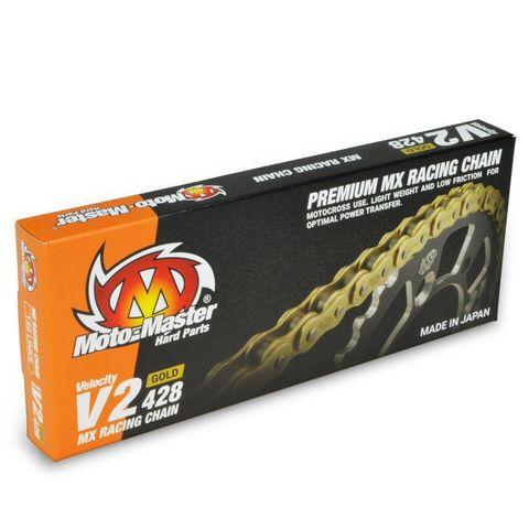CHAIN 428 - 130 LINK GOLD MOTO-MASTER V2 CHAIN LIGHTWEIGHT HIGH-PERFORMANCE CHAIN