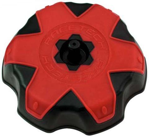 FUEL CAP RTECH BLACK RED