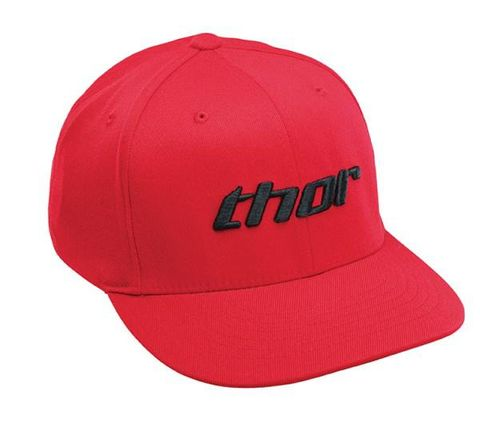 THOR BASIC RED BLACK HAT CURVED BILL