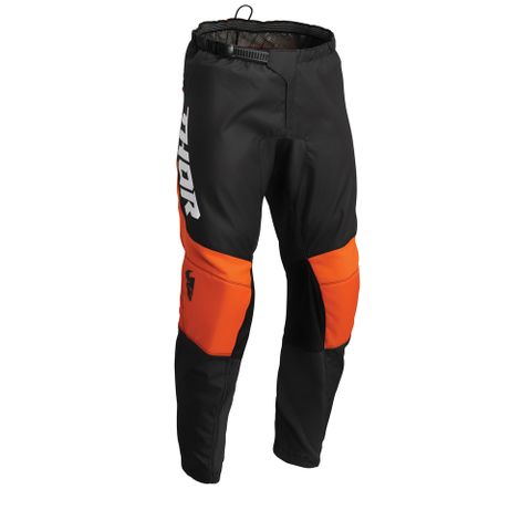 THOR MX PANT S22 SECTOR YOUTH CHEV CHAR/RD/OR