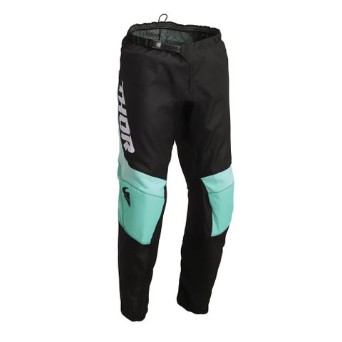 THOR MX PANT S22 SECTOR YOUTH CHEV BLACK/MINT
