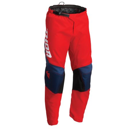 THOR MX PANT S22 SECTOR YOUTH CHEV RED/NAVY