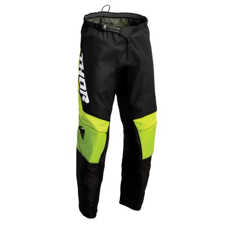 THOR MX PANT S22 SECTOR YOUTH CHEV BLK/GRN