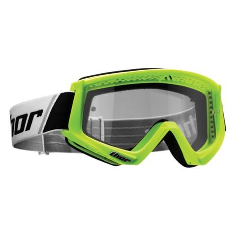 THOR MX GOGGLES YOUTH COMBAT FLO GREEN BLACK