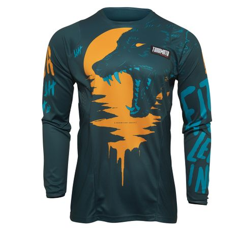 THOR MX JERSEY S22 PULSE YOUTH TEAL/TANGERINE
