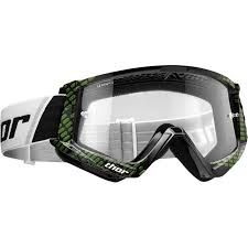 THOR MX GOGGLES YOUTH COMBAT BLACK LIME