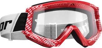 THOR MX GOGGLES YOUTH COMBAT RED/WHITE