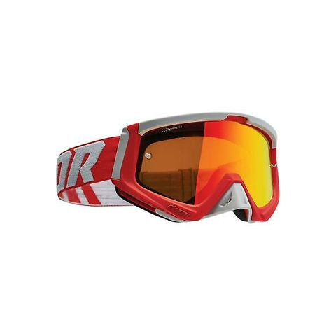 THOR MX GOGGLES S22 SNIPER RED GREY INC SPARE LENS