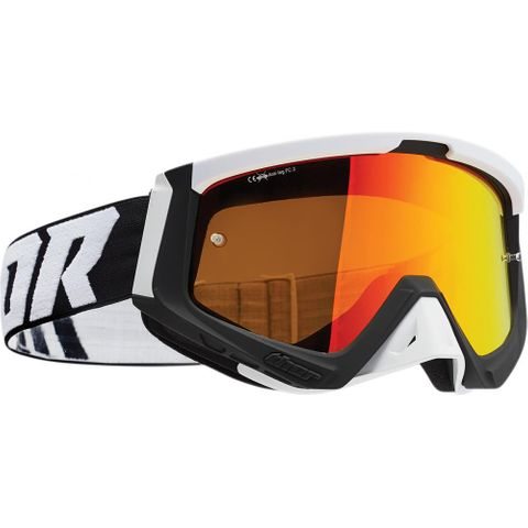 THOR MX GOGGLES S22 SNIPER BLACK WHITE INC SPARE CLEAR LENS