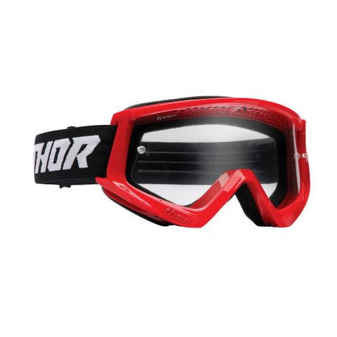 THOR MX GOGGLES S22 YOUTH COMBAT RED/BLACK
