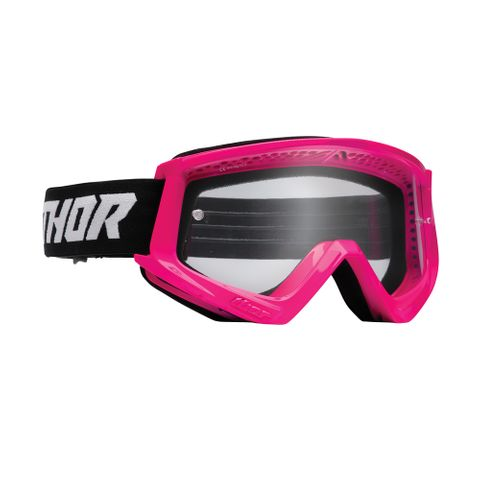 THOR MX GOGGLES S22 YOUTH COMBAT FLURO PINK/BLACK