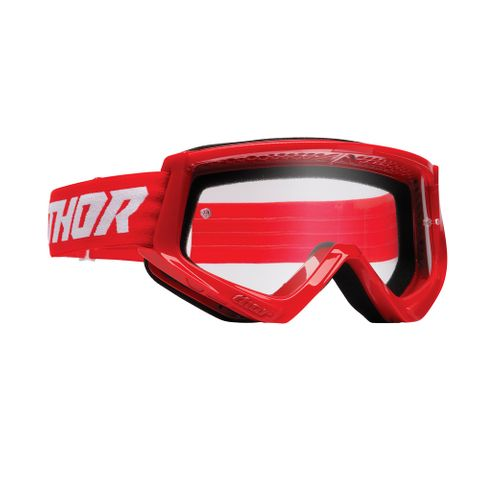 THOR MX GOGGLES S22 YOUTH COMBAT RED/WHITE