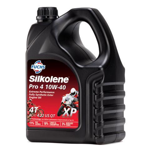 SILKOLENE PRO 4 10W-40 - XP  (4L) EXTREME PERFORMANCE SYNTHETIC ESTER BASED ENGINE OIL