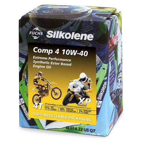 SILKOLENE COMP 4 10W-40 - XP  (4L) EXTREME PERFORMANCE SYNTHETIC ESTER BASED ENGINE OIL