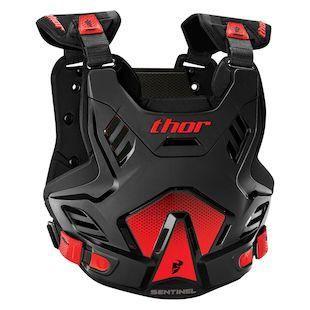 SENTINEL GP ARMOUR THOR ADULT BLACK RED XL 2XL