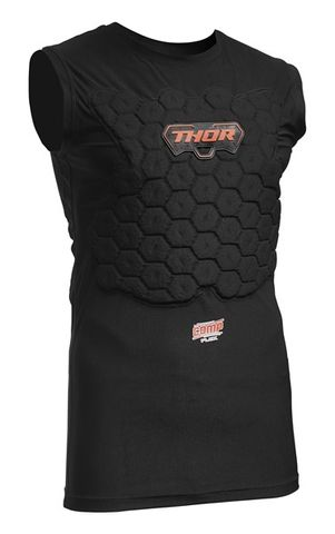 DEFLECTOR THOR COMP XP  COMPRESSION FIT BASE LAYER  SLEEVELESS CONSTRUCTION FOR EXTENDED COVERAGE