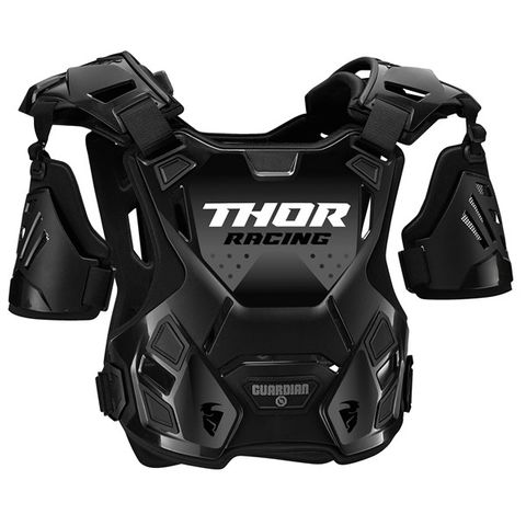 CHEST PROTECTOR THOR MX GUARDIAN S20Y SMALL MEDIUM {SUITS MOST RIDERS 27-45KG} YOUTH BLACK