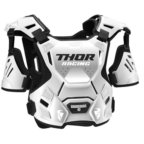 CHEST PROTECTOR THOR MX GUARDIAN S20Y SMALL MEDIUM {SUITS MOST RIDERS 27-45KG} YOUTH WHITE