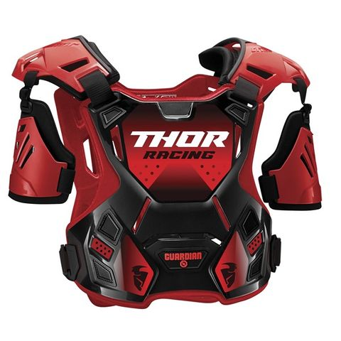 CHEST PROTECTOR THOR GUARDIAN S20STONE SHIELD FRONT SUITS MOST RIDERS 18-27KG 2XS/XS RED BLACK CHILD