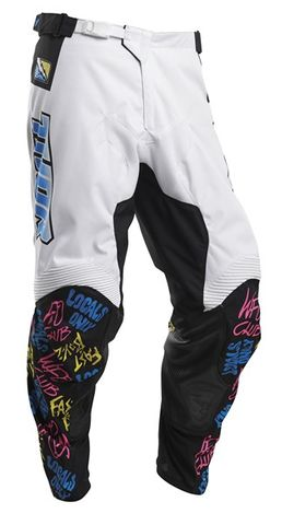 PANT THOR PULSE S20 FAST BOYZ WHITE 34 INCH WITH FREE JERSEY