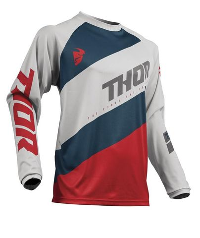 THOR MX JERSEY S19 SECTOR SHEAR LIGHT GRAY/RED 3XLARGE