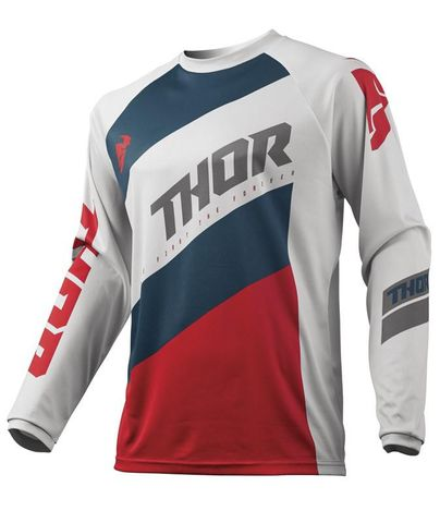 THOR MX JERSEY S19Y YOUTH SECTOR SHEAR LIGHT GRAY/RED XLARGE   BIGGER FIT THAN NORMAL  RRP $32.95