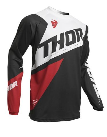 JERSEY THOR MX  S20 SECTOR BLADE CHARCOAL RED YOUTH XLARGE