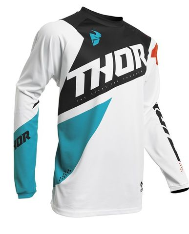 THOR SECTOR BLADE YOUTH WHITE AQUA JERSEY