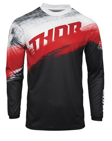 THOR MX SECTOR VAPOR BLACK RED YOUTH JERSEY