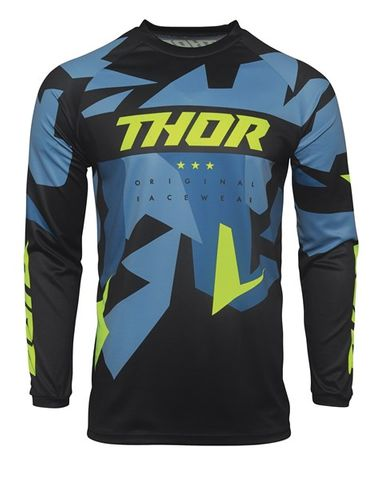 THOR MX SECTOR WARSHIP BLUE ACID YOUTH JERSEY
