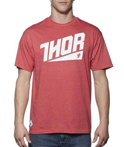 THOR S/S ASCEND RED HEATHER TEE