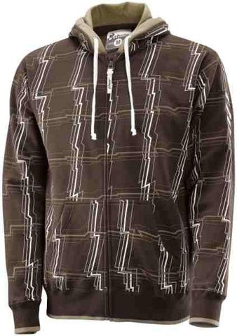 ZIP HOODY THOR SWITCH BROWN SMALL