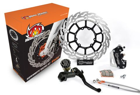 SUPERMOTO RACING 320MM FLOATING DISC, PADS, 4 PISTON CALIPER, RADIAL MASTER CYLINDER