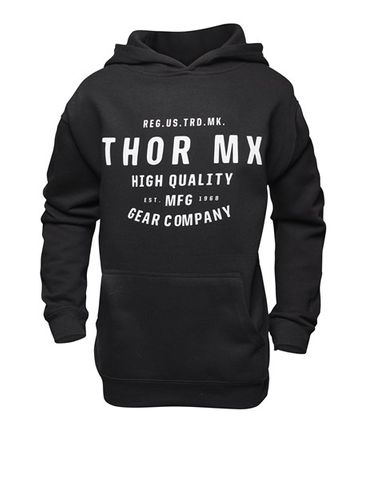 HOODY THOR MX CRAFTED BLACK YOUTH