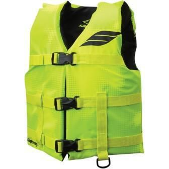 SLIPPERY HYDRO VEST FIT 25-45KGS 26-29 CHEST TYPE3 PFD BELT CLOSURE RING FOR CLIP LANYARD YOUTH